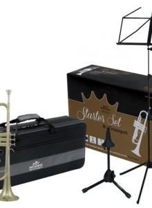 ROY BENSON Bb-Trumpet Starter Kit набор TR-202 труба Bb, стойка, пюпитр, кейс